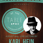 At The Table Live Lecture Karl Hein